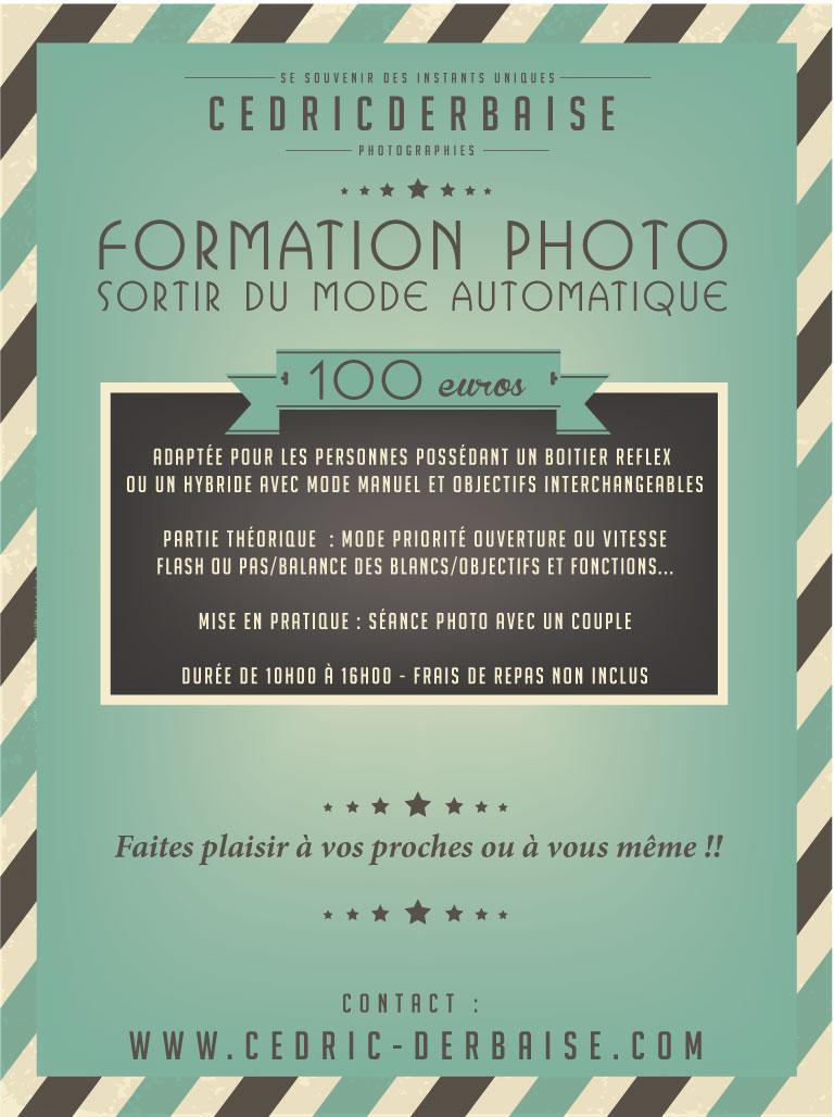 Formation photo - Sortir du mode automatique - Cedric Derbaise