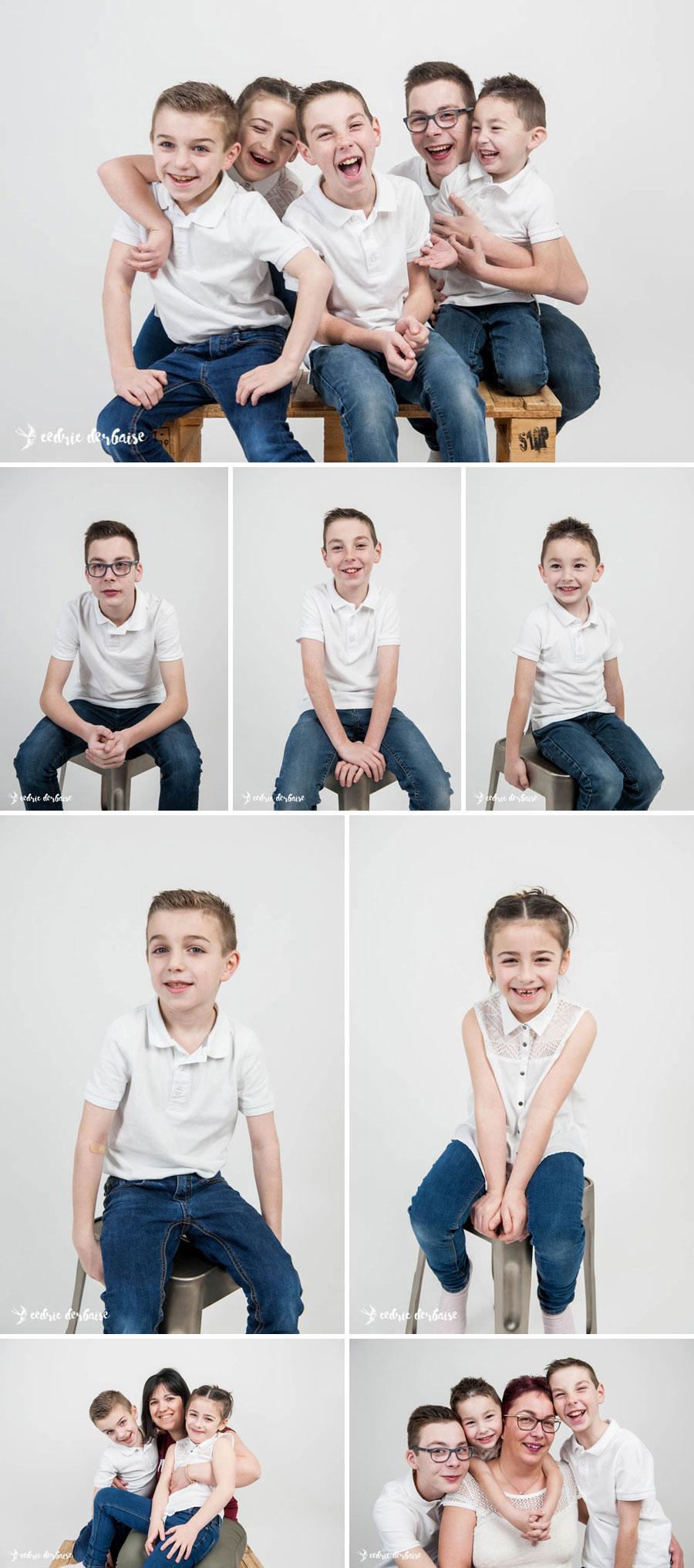 Photographe hauts de france famille studio