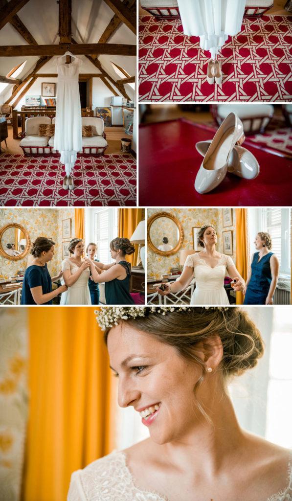 Habillage de la mariée mariage oise