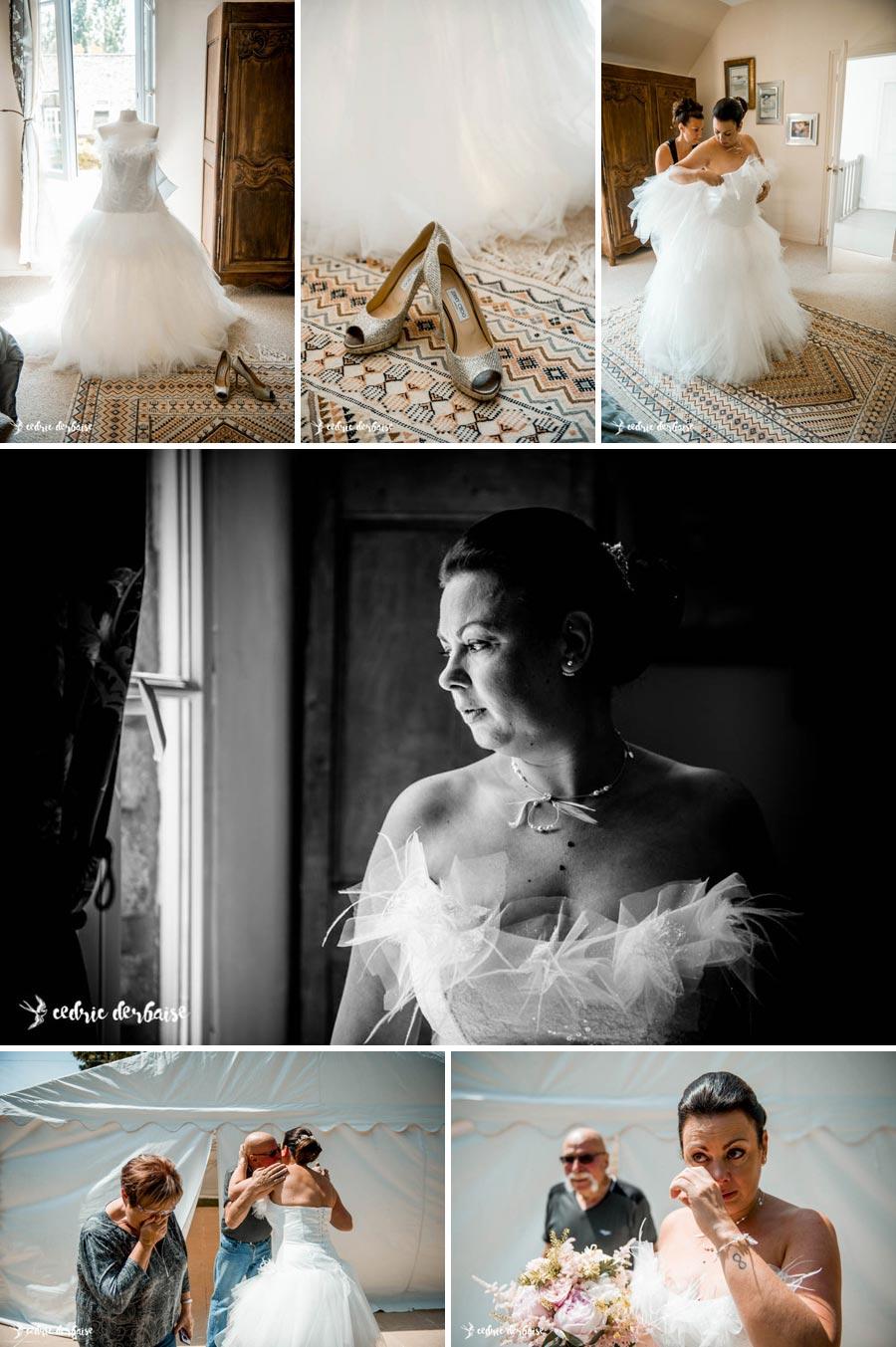 domaine du Chesney à Pressagny-l'Orgueilleux - Habillage de la mariée