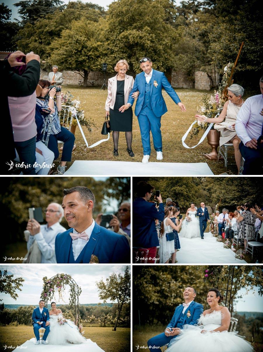 Arrivée des mariés - Cérémonie laïque