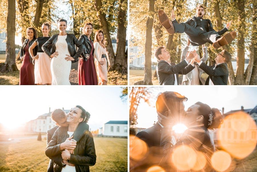 Mariage photos de couple et groupe
